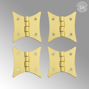 <PRE>4 Pack Butterfly Bright Brass Cabinet Hardware Hinges Brass Hinge 2 3/8 x 2 i</PRE>