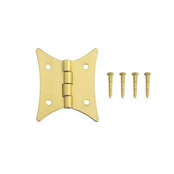 <PRE>4 Pack Butterfly Bright Brass Cabinet Hardware Hinges Brass Hinge 2 3/8 x 2 i</PRE>zoom3