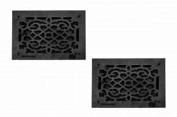 <PRE>2 Floor Heat Register Louver Vent Cast 8&quot; x 12 Duct </PRE>
