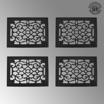 <PRE>4 Heat Air Grille Cast Victorian Overall 10&quot; x 14&quot; </PRE>