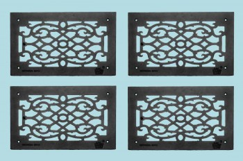 <PRE>4 Heat Air Grille Cast Victorian Overall 10&quot; x 16&quot; </PRE>