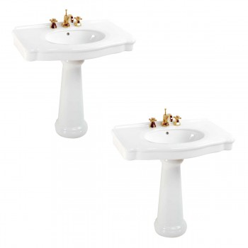 White China Pedestal Sink 8