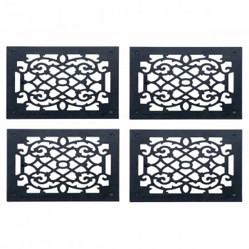 <PRE>4 Heat Register Floor Vent Grate Cast Aluminum  9.5&quot; x 11 3/8 </PRE>