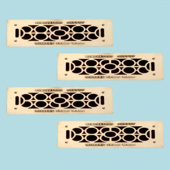 <PRE>4 Floor Wall Heat Air Grill Vent Grate Solid Brass 4.75 inchx 11&quot; </PRE>zoom2
