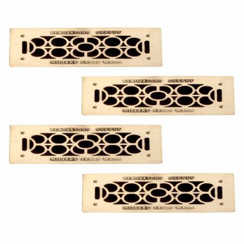 4 Floor Wall Heat Air Grill Vent Grate Solid Brass 4.75 x 11 Heat Register Floor Register Wall Registers