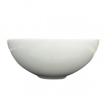 White Small Vessel Sink Above Counter Round Porcelain 11.25 inches Dia. Set of 2 Small Above Counter Round Vessel Sink White China Round Vessel Sink Compact Space Saving Small Counter Top Sink