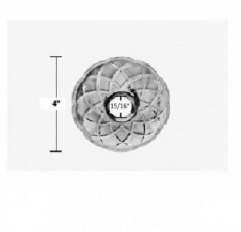 spec-<PRE>6 Vintage Bobeche Clear Crystal 6 Prism Hole Scallop 4&quot; D </PRE>