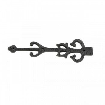 2 Wrought Iron Dummy Hinge Decorative Cover Plate 11 Set of 2 Decorative Dummy Hinge Iron Dummy Door Hinge Rustic Antique Door Hinge