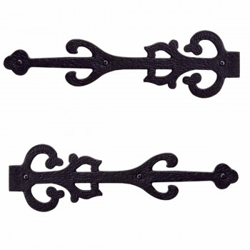 <PRE>2 Wrought Iron Dummy Hinge Decorative Cover Plate 11inch Set of 2</PRE>zoom1