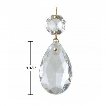 "spec-<PRE>6 Prisms Clear Glass Chandelier Bobeche Pendant 1.5"" </PRE>"