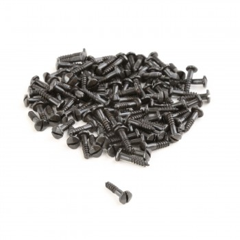 <PRE>Phillips Round Head Wood Screws #6 5/8inch Qty 100 Black Steel </PRE>zoom3