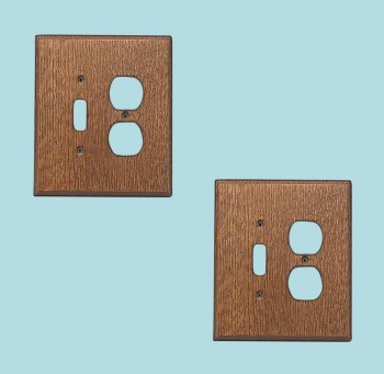 2 Switchplate Oak ToggleOutlet Switch Plate Wall Plates Switch Plates