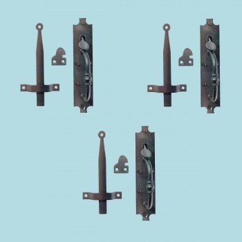 "<PRE>3 Cast Iron Door Latch Black inchColonial Norfolk"" 8"" Tall </PRE>zoom2"