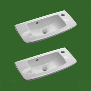 <PRE>Wall Mount Small Vessel Sink With Overflow Hole and Single Faucet Hole Set of 2</PRE>zoom2