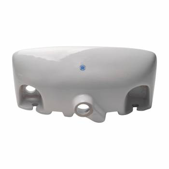 <PRE>Wall Mount Small Vessel Sink With Overflow Hole and Single Faucet Hole Set of 2</PRE>