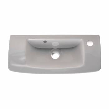 Wall Mount Small Vessel Sink With Overflow Hole and Single Faucet Hole Set of 2 Alfi AB103 vessel sink porcelain ceramic vanity Whitehaus WH1102R rectangle square bathroom FineFixtures  WH2010W porcelain vessel sink