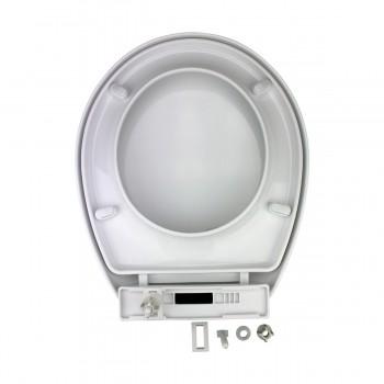 Slow EZ Close No Slam Plastic Round Toilet Seat White White Toilet Seat Toilet Seat Round Slow Close Toilet Seat