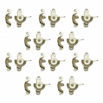 <PRE>10 Traditional Solid Brass Window Sash Lock Bright Chrome </PRE>zoom1