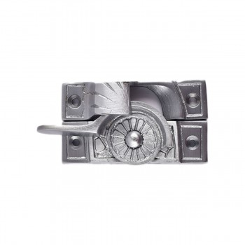 <PRE>2 Ornate Solid Brass Window Sash Lock Satin Chrome </PRE>zoom8
