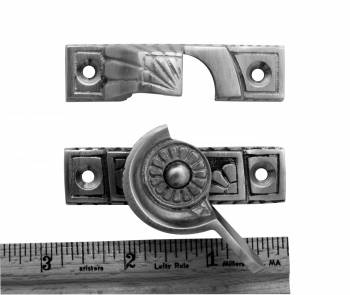 spec-<PRE>2 Ornate Solid Brass Window Sash Lock Satin Chrome </PRE>