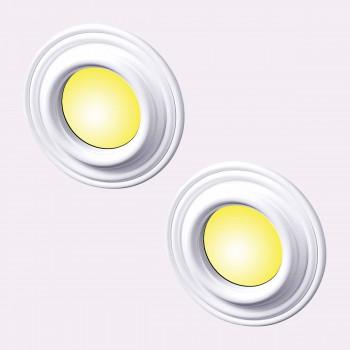 Spot Light Ring White Trim 5 ID x 9 OD Mini Medallion Set of 2 Light Medallion Light Medallions Lighting Medallion