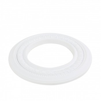 "<PRE>10 Spot Light Ring White Trim 5inch ID x 9"" OD Mini Medallion </PRE>zoom3"