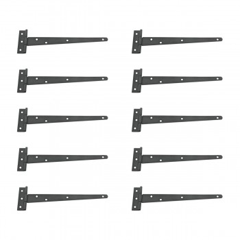 <PRE>10 T Strap Door Hinge Black RSF Black Iron Light Duty 11inch </PRE>zoom1
