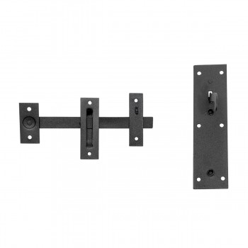 <PRE>Wrought Iron Door Latch Pull Suffolk Black 7 Inch</PRE>zoom3