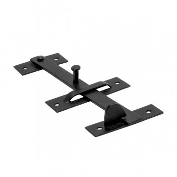 <PRE>Wrought Iron Door Latch Pull Suffolk Black 7 Inch</PRE>zoom4