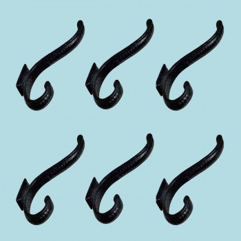 <PRE>6 Hook Wrought Iron Black 4inch Double </PRE>zoom2