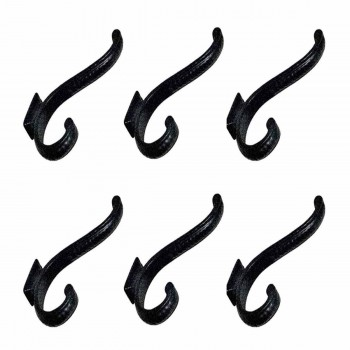 <PRE>6 Hook Wrought Iron Black 4inch Double </PRE>zoom1