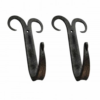 <PRE>2 Coat Hat Robe Hook Wrought Iron Black Scroll 5inch </PRE>zoom1