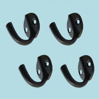 <PRE>4 Hook Wrought Iron Black RSF Coat 1 1/2inch X  1 3/4&quot; </PRE>zoom2