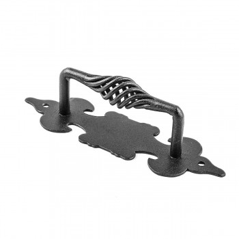 <PRE>10 Cabinet Pull Birdcage Black Wrought Iron 6inch </PRE>zoom4