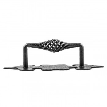 <PRE>10 Cabinet Pull Birdcage Black Wrought Iron 6inch </PRE>zoom6