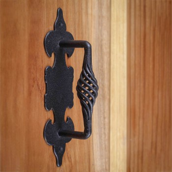 <PRE>10 Cabinet Pull Birdcage Black Wrought Iron 6inch </PRE>zoom7