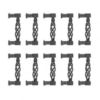 <PRE>10 Drawer Pull Cabinet Birdcage Black Wrought Iron 3 1/2inch </PRE>zoom1