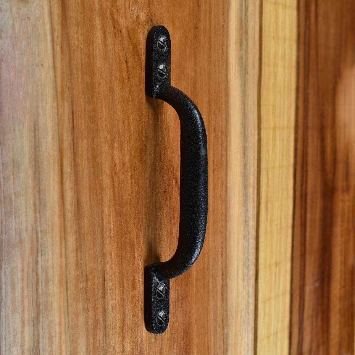 10 Door Pull Black Wrought Iron Pull 6 Door Pull Door Pulls