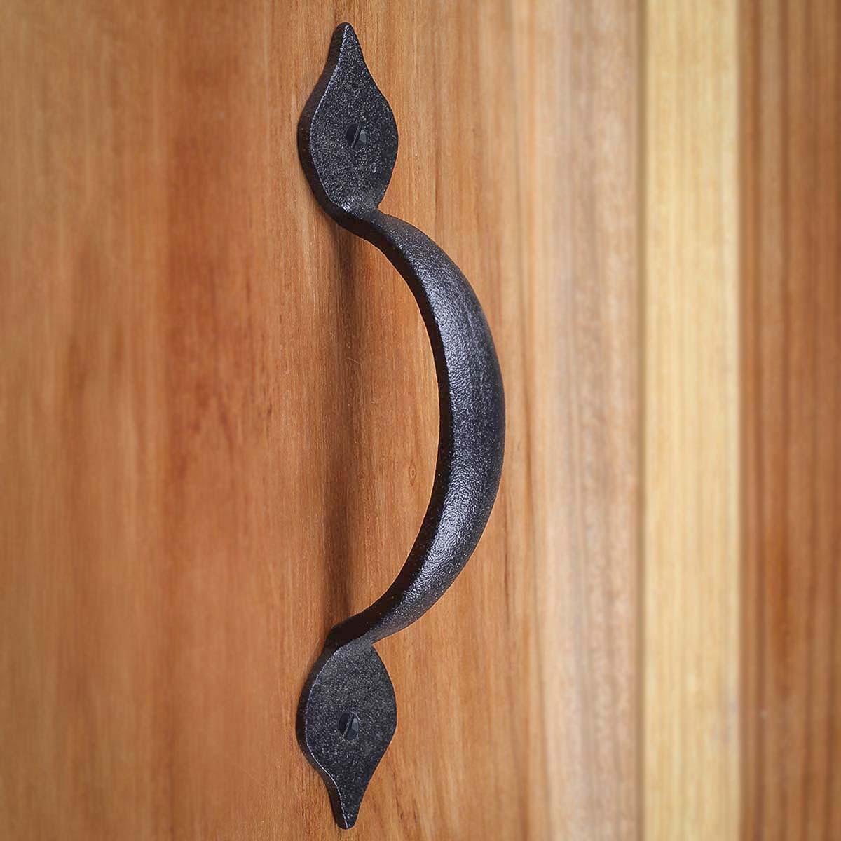 10 Spear Door or Drawer Pull Black Wrought Iron 5 12 Door Pull Door Pulls