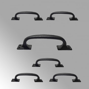 <PRE>6 Door Pull Black Wrought Iron 6inch </PRE>zoom2