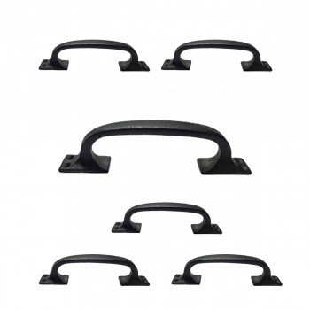 6 Door Pull Black Wrought Iron 6