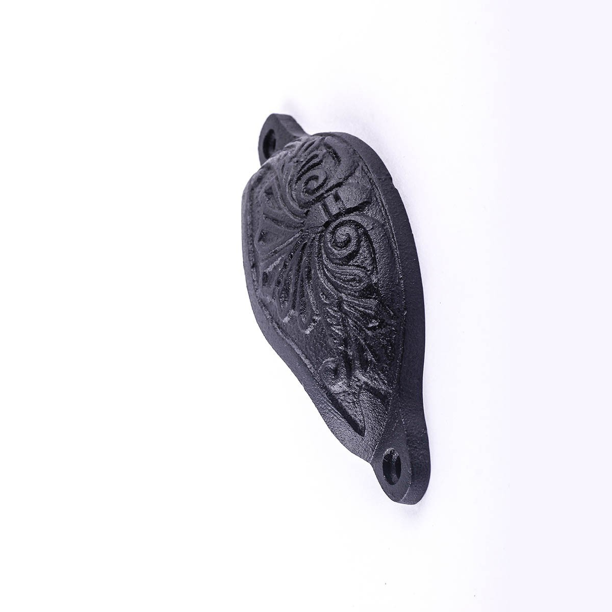 Black Wrought Iron Cup Pull Wrought Iron 4.5 Wide x 1.5 inches High Pack of 6 Cabinet Drawer Pull Unique Ornate Cute Cabinet Pull Black Cabinet Hardware