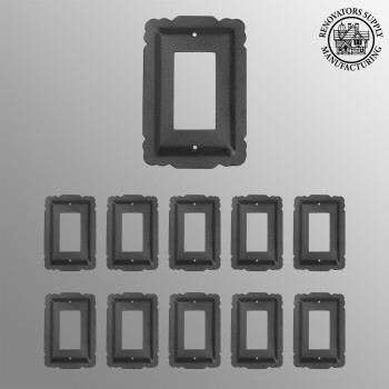 10 Switchplate Black Steel SIngle GFI RSF Switch Plate Wall Plates Switch Plates