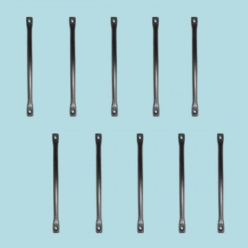 <PRE>10 Door or Drawer Pull Black Wrought Iron 7inch </PRE>zoom2