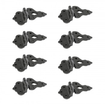 8 Hoosier Black Wrought Iron Hoosier Hinge 3 1/2 in.
