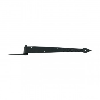 <PRE>14 inch Pintle Hinges Black Wrought Iron Spear and Diamond Etching Set of 10 </PRE>zoom3