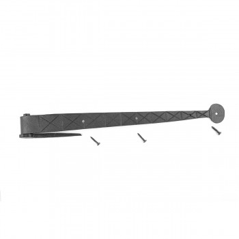 <PRE>10 Bean Diamond Etch Pintle Door Strap Hinge Iron 14inch </PRE>zoom3
