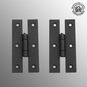 spec-<PRE>Cabinet Hinge Black Iron H Flush 3 Inch Set Of 2</PRE>