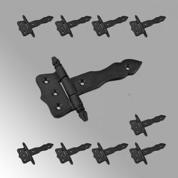 <PRE>10 Door Hinges Black Cast Iron Hinge 5inch </PRE>zoom2