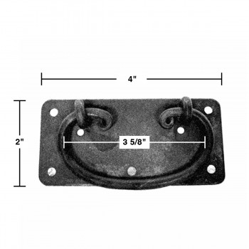 spec-<PRE>10 Cabinet Drawer Door Pull Black Wrought Iron Mission 4&quot;  </PRE>